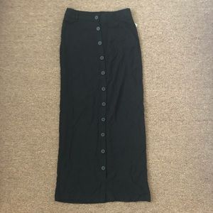 Forever 21 Black Buttoned Maxi Dress